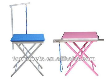 High quality folding colourful pet grooming tables
