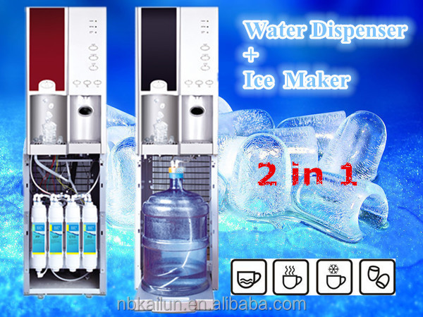 Ice making machine RO/bottled water dispenser with ice maker