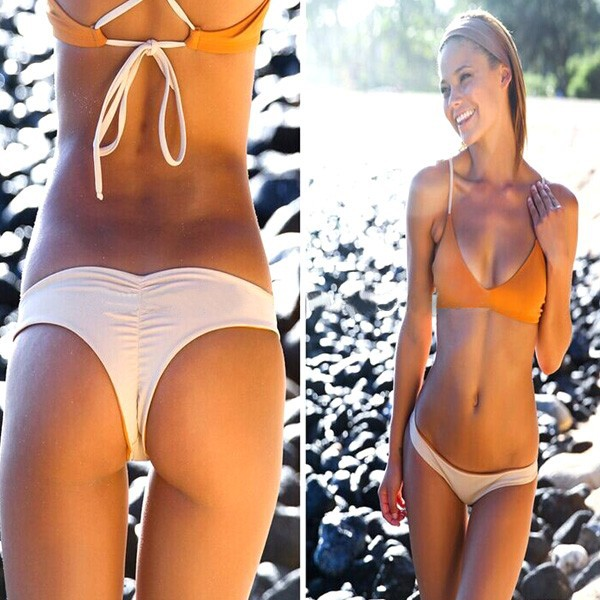 Looking for that perfect little Brazilian bikini? Take a look at our irresistible tanga and thong swimsuits, ultra-feminine, ultra-stylish and totally on-trend! Sale. New in > Women's swimwear > Bikini Bottoms Moreover, feminine shapes are very appreciated in Brazil! There are also Brazilian bikini models that are designed for those.