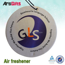 Promotion customized logo paper air freshener for home