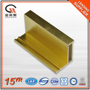 House eletrophoresis golden extrusion windows aluminum profile