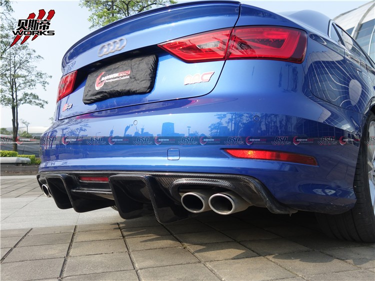 for 13-16 Audi S3 body kit Front Lip Rear Diffuser Side Skirts Auto parts