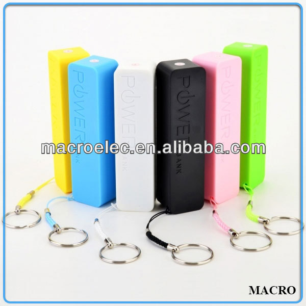 2600mah keychain mobile emergency charger