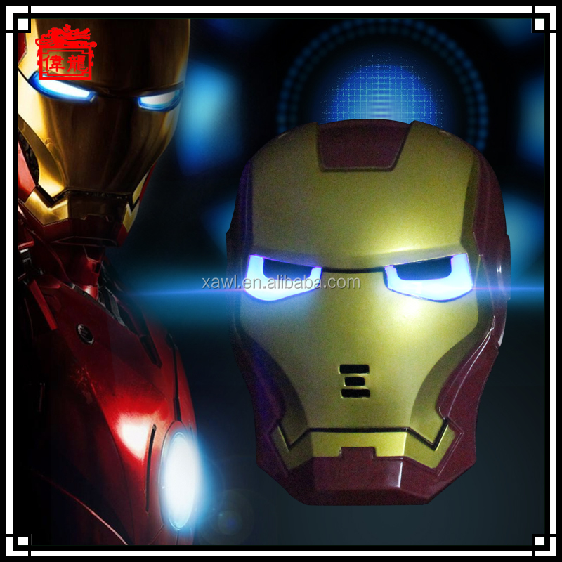 Cool!Halloween movie masks iron man mask with light source MJ04