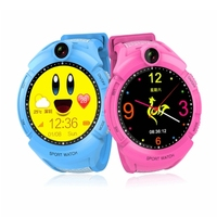 2017 new kids gps watch with 1.4 inch round screen and camera Q360 gps tracker watch
