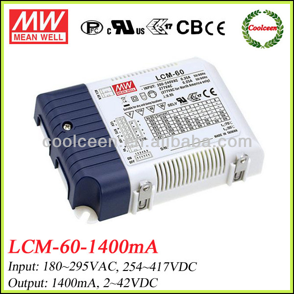Meanwell LCM-60 dimming led driver 1400ma