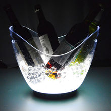 LED Colour Changing Ice Bucket Champagne Wine Drinks Cooler For Bar Party Xmas