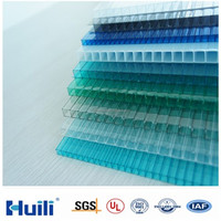 PC 8mm Polycarbonate Hollow Wall Protection Sheets for sale