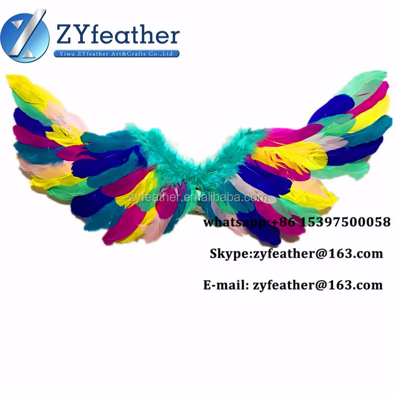 Hot Selling Top Quality multi-color large show costume angel wings