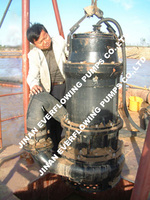 activated slag submersible river sucking industrial submersible sand pump