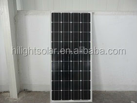130w photovoltaic solar panels for sreet lamp with TUV CE CEC