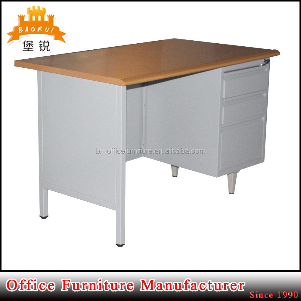 modern office furniture iron and mdf iron desk steel workstation table