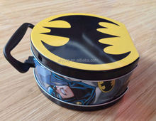 lovely cute cartoon customized printing lunch tin box