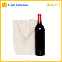 Fancy Custom Twin Bottle Foldable Wholesale Wine Tote Bag