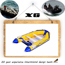 CE 270cm Cando Hypalon/PVC Inflatable aluminum floor u-boat watch