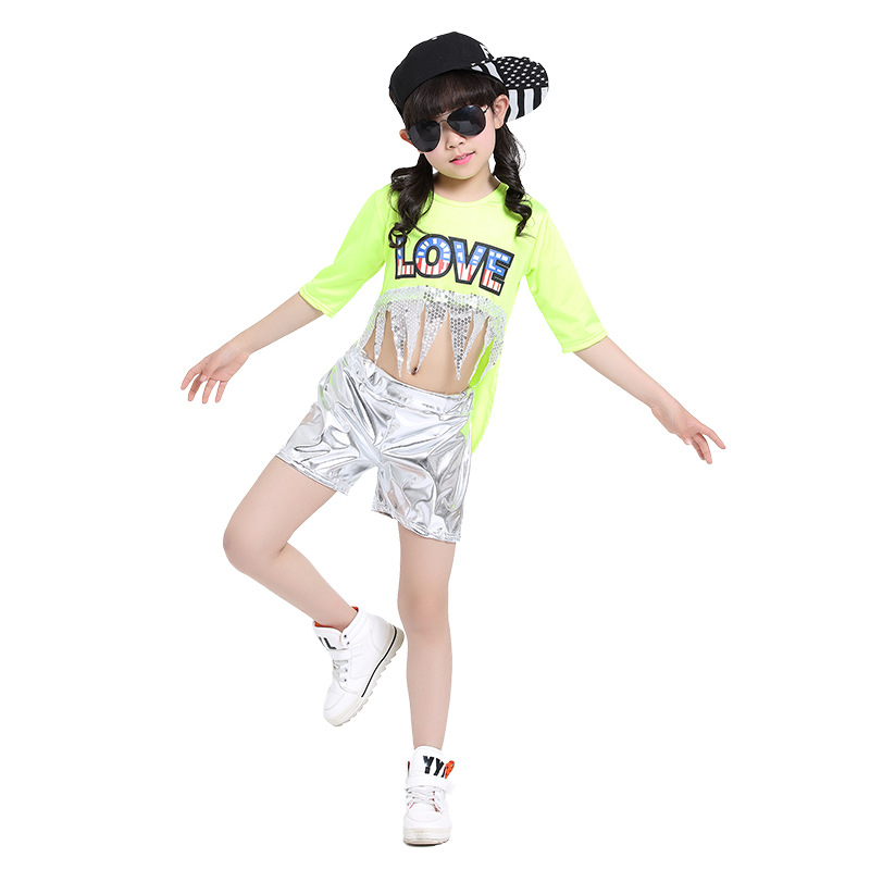 2017 girl stage simple hip hop costume