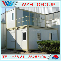 Foldable 20ft Container House/Homes for Exhibitions, Modular, Mobile, Galvanized Steel Sturcture