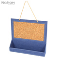 Naham Denim Hanging Message Board Calendar Holder