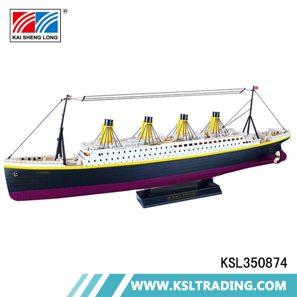 Popular 1:325 scale model rechargeable plastic rc toy cruise ship