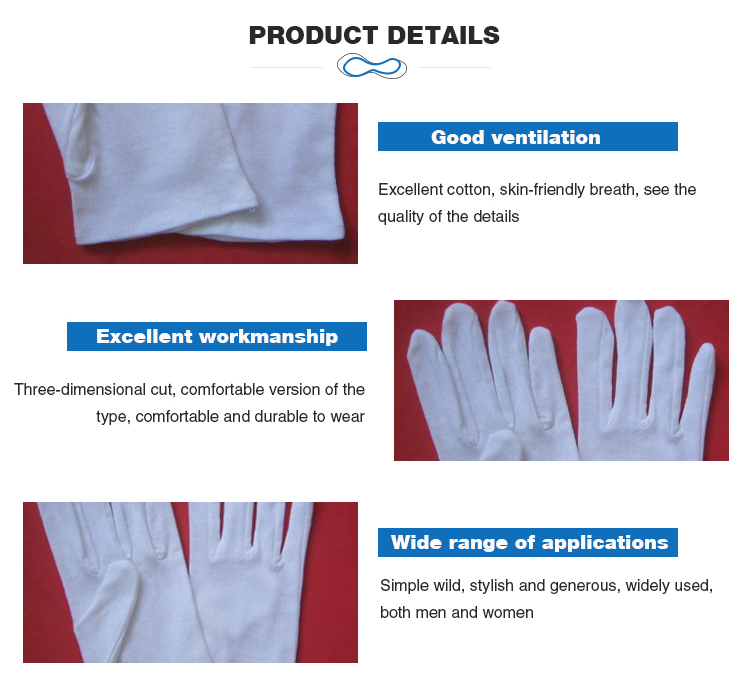 Professional manufacture cheap cotton canvas working garden glove