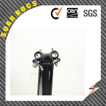 SoarRocs full carbon fiber T800 mountain bike/Road bike parts carbon seatpost 3K glossy bicycle seatpost