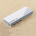 Real High-capacity 3 USB ports power bank with strong LED torch