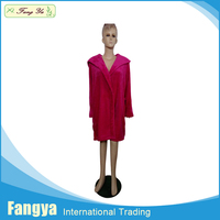 Elegant coral fleece bath robe/sleepwear for adult