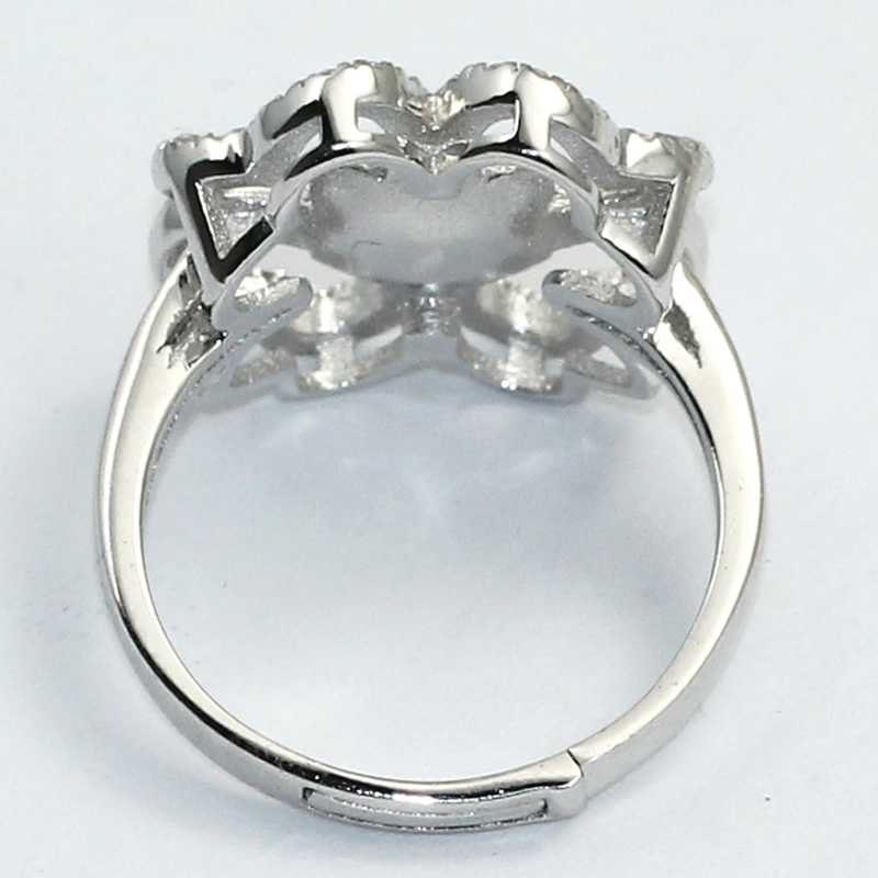 Beadsnice ID31043 925 steriling silver ring base removable US ring size 7 to 9 fit 7mm round sold by PC silver ring base