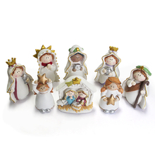 Nativity religious manger family cribs set figurine
