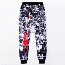 Colored jogger sweatpants custom male all over print sublimation sweatpants