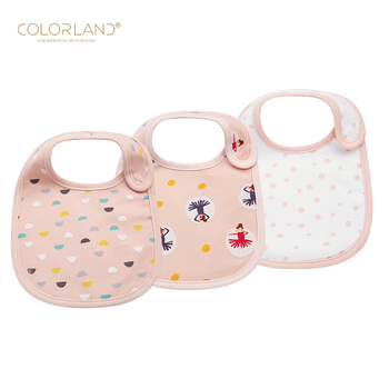COLORLAND soft and absorbent cotton baby bibs cute baby drool bibs for boys & girls
