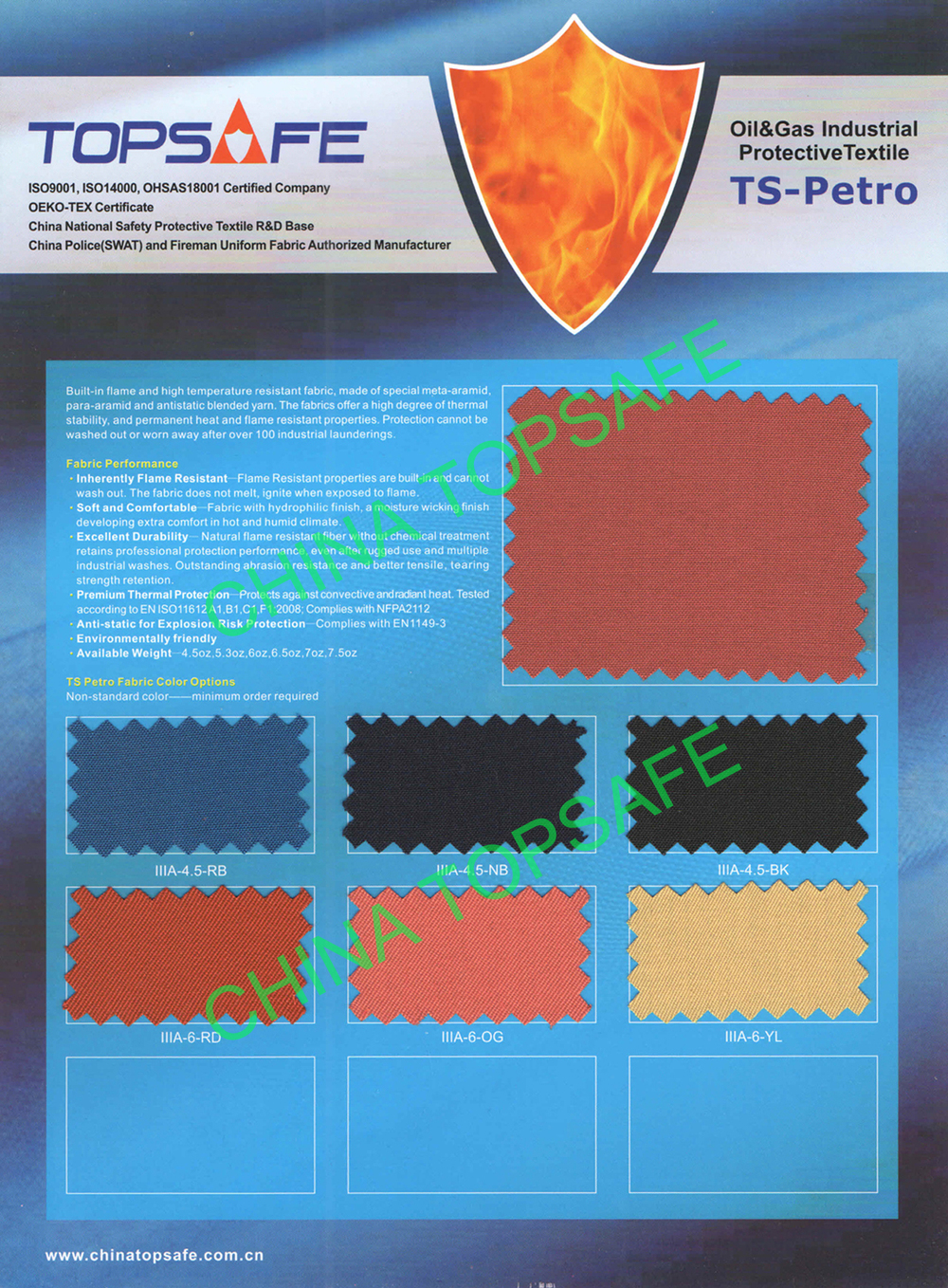 EN 11611 EN 1149 NFPA 2112 Flame retardant aramid fabric for industry workwear and coverall