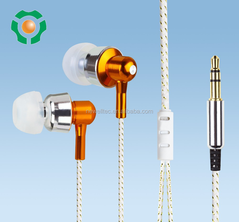 Glowing Metal earphones wholesale noise cancelling MP3 use