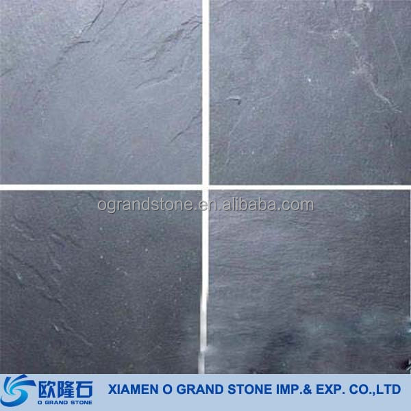 Outdoor Paver Roof Natural Black Slate Stone Tile