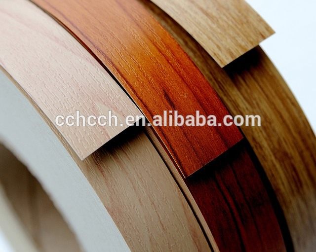 Hot sale pvc edge banding for particle board,plastic shelf edge banding,wood edge banding