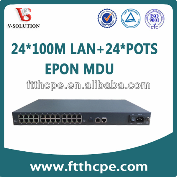 OLT EPON MDU(Multi-Dwelling Unit) V5628-2C,Support QinQ VLAN and IGMP Snooping