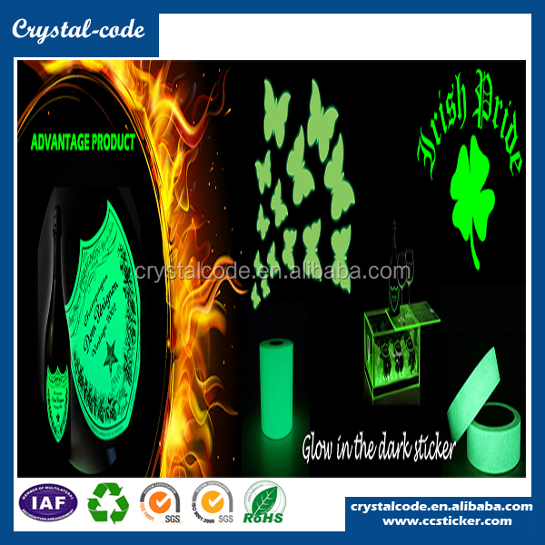 Self-adhesive fluorescent paper fluorescent night glowing sticker, luminous label, fluorescent sticker paper