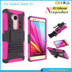 Heavy duty 3 in 1 belt clip holster case for Huawei honor 5x ,kickstand case for Huawei honor 5x