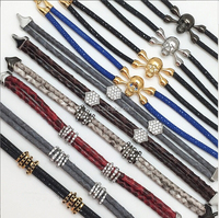 New Trendy Most Popular Wholesale Gift Item Luxury Stingray And Python Leather Bracelet For Men