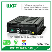 4 channel moible dvr with 3G WiFi GPS function can check the real time view by IPhone / iPad,Android,Windows Mobile IE etc