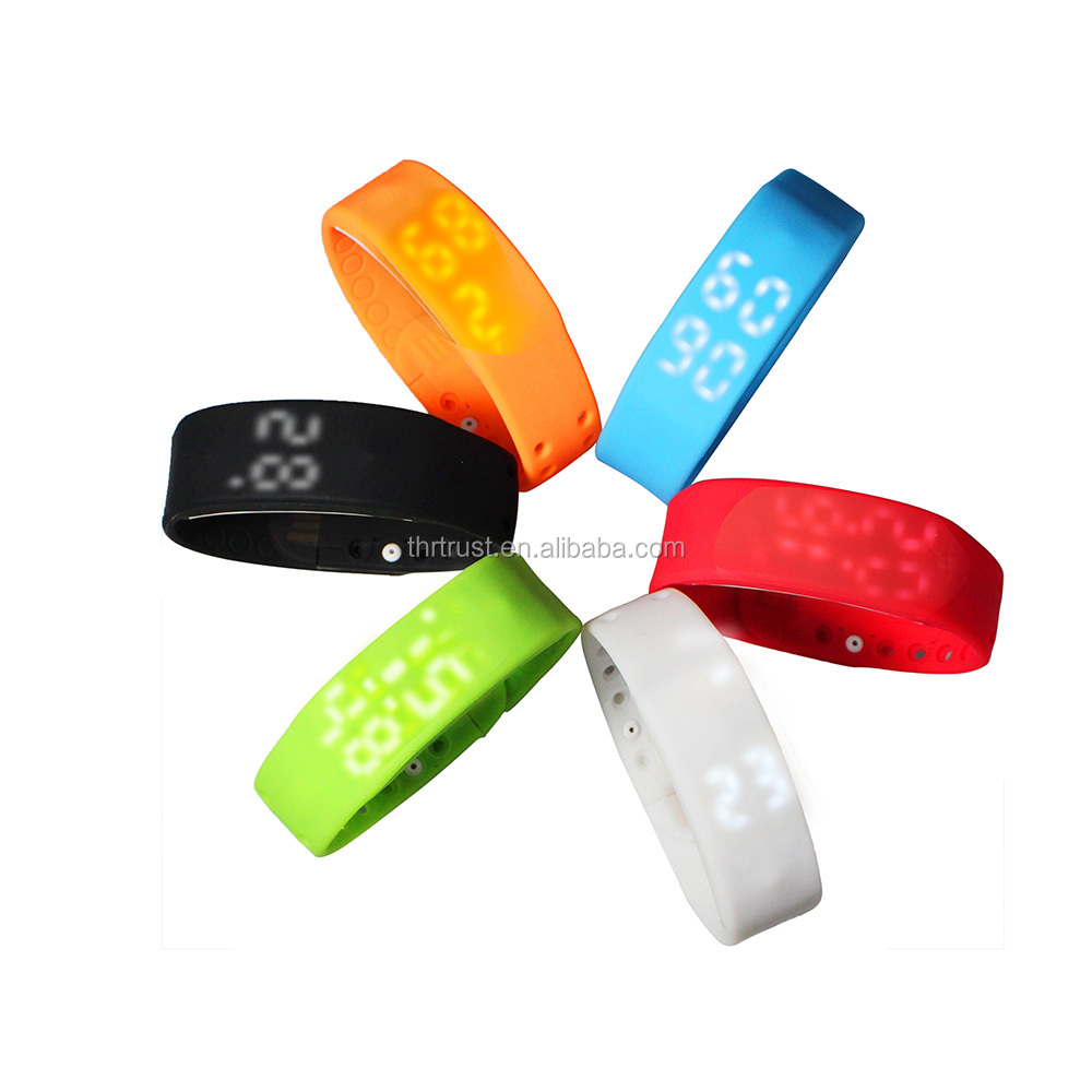 OEM Logo Time Calorie 3D pedometer Bluetooth Smart Band Temperature Sleep Monitoring USB charging smart bracelet
