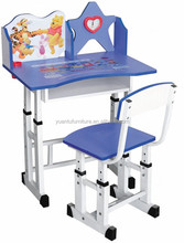 children study table furniture with shelf for students,XM-201
