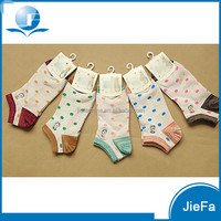 2016 fashion cute dot jacquard kids children's bamboo combed cotton nylon spandex polyester socks