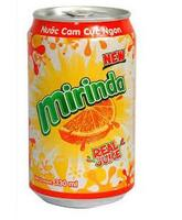 Mirinda 330ml Orange Soft Drink