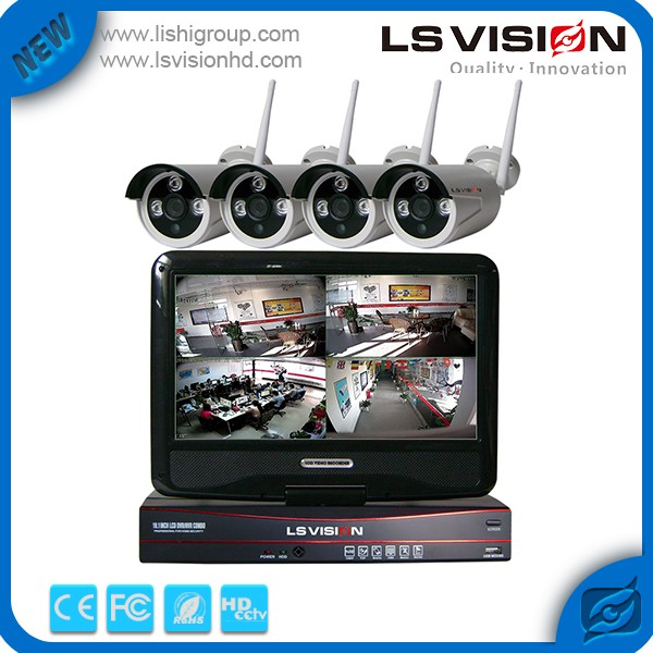 LS VISION 960p Onvif Wifi Nvr Recorder and P2P Wifi Video Camera Home Security System