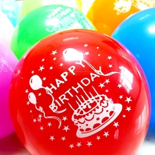 #happy birthday# 12-inches 2.8g good quality birthday party decoration balloons