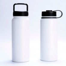 Stainless steel 304 double wall vacuum flask outdoor sport water bottle with plastic lid