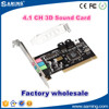 Manufacturer wholesale PCI 4 Channel 3D Audio Card /Sound card
