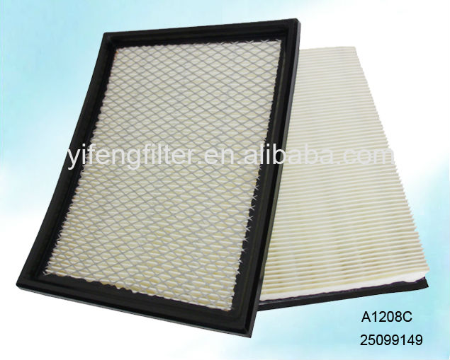 Air Filter A1208C /25099149 for Buick GL8 3.0, Cadillac Seville 4.6, Chevrolet Lumina 3.1, Opel Sintra