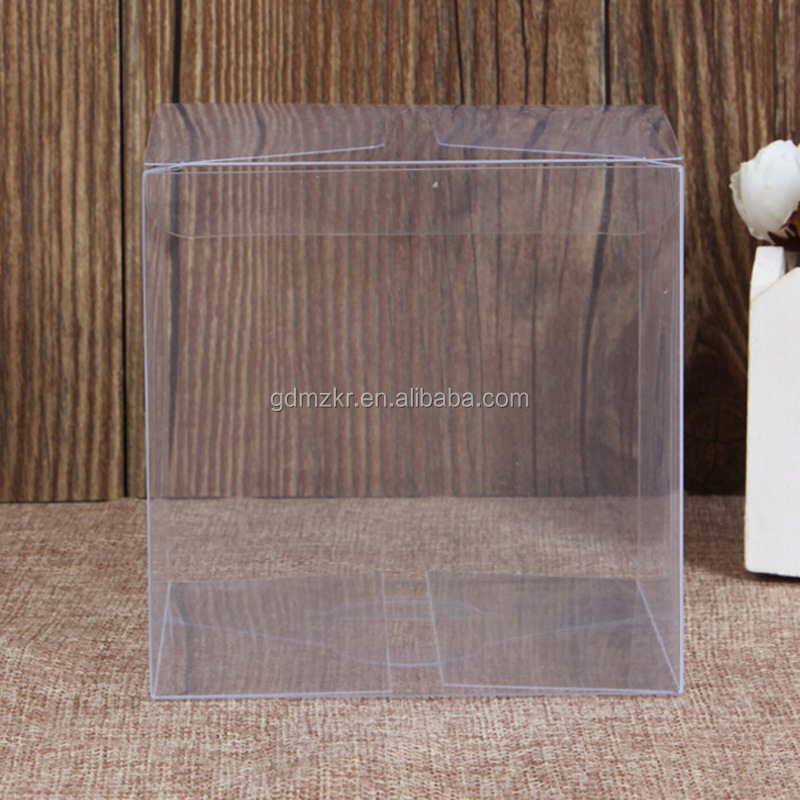 Good quality square promotional clear cosmetics gift packing pvc box